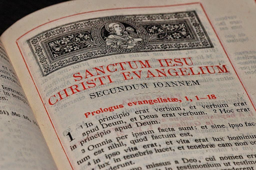 Side fra bibeloversettelsen Vulgata.
